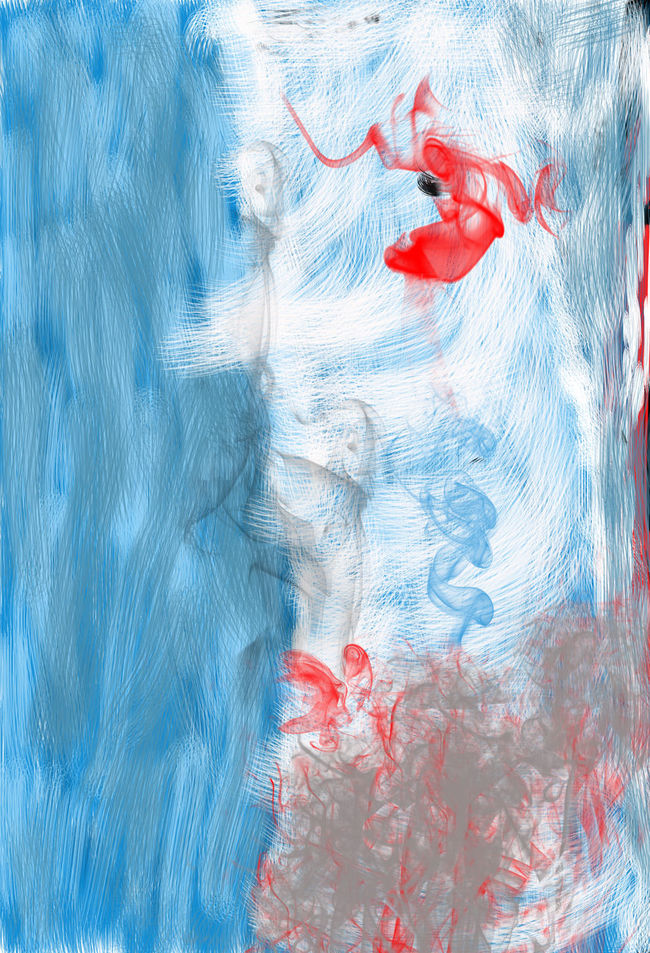 Drawing Adobe Photoshop Painting Blue White And Red Photoshop Creative