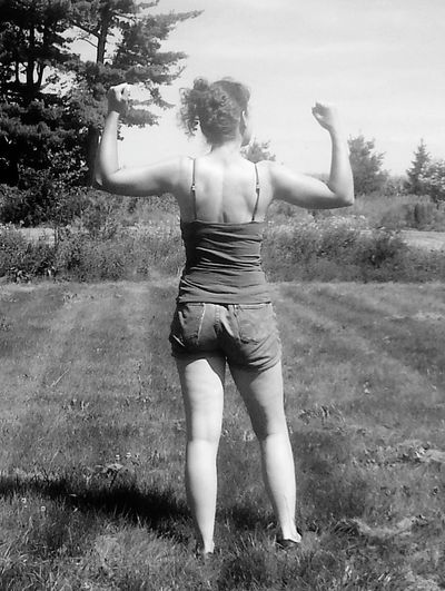 Feeling good after a weekend of splitting and stacking 8 face cords of firewood! August 2015. What Makes You Strong? Strongwoman Farming Strongwomen Stay Strong Portrait Blackandwhite Photography Thatsme!