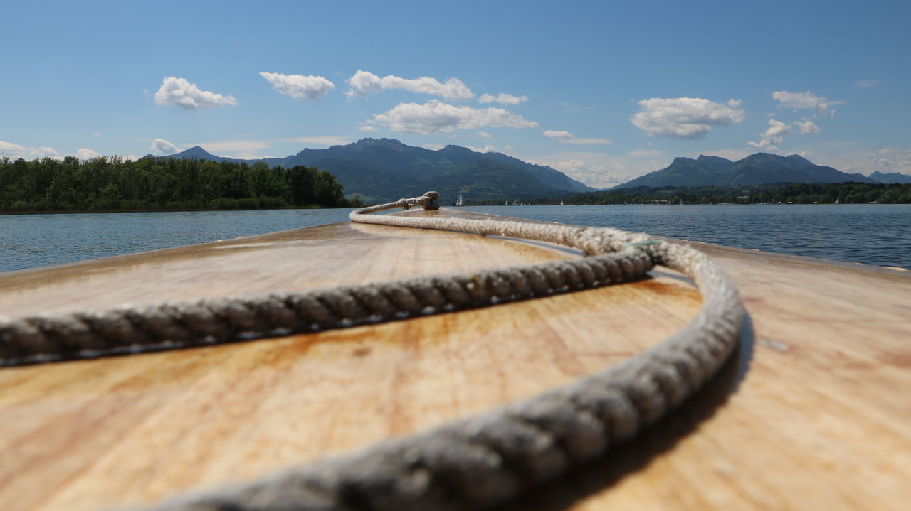 Canon Eos 750D Bavaria Beauty In Nature Boat Chiemsee Day Germany Holiday Lake Mountain Nature No People Outdoors Scenics Sky Sun Tradition Travel Destinations Water