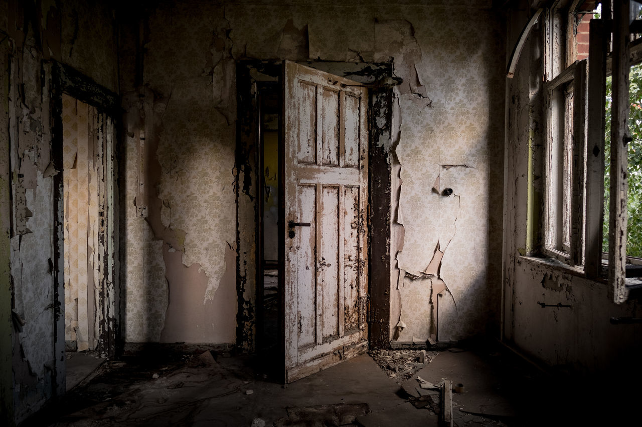 Open door policy. Abandoned Architecture Bad Condition Broken Damaged Dirty Door Interior Messy Old Weathered