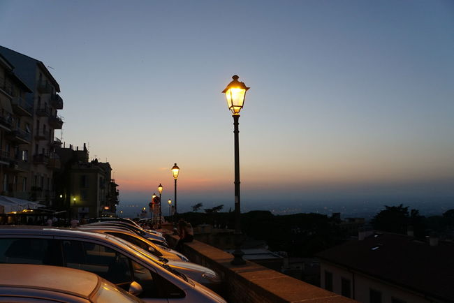 Tivoli night life, high above city of Rome Architecture Building Exterior Built Structure City City Life Clear Sky Dusk Golden Hour Illuminated Orange Color Outdoors Panorama Rush Hour Scenics Spire  Street Light Sunset Tivoli