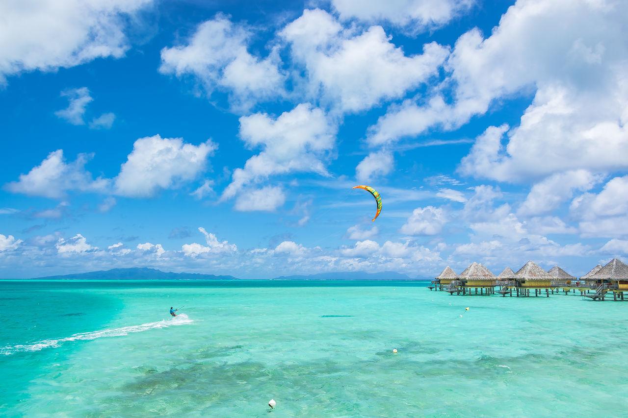 Beautiful stock photos of bora bora, sea, blue, beach, sky