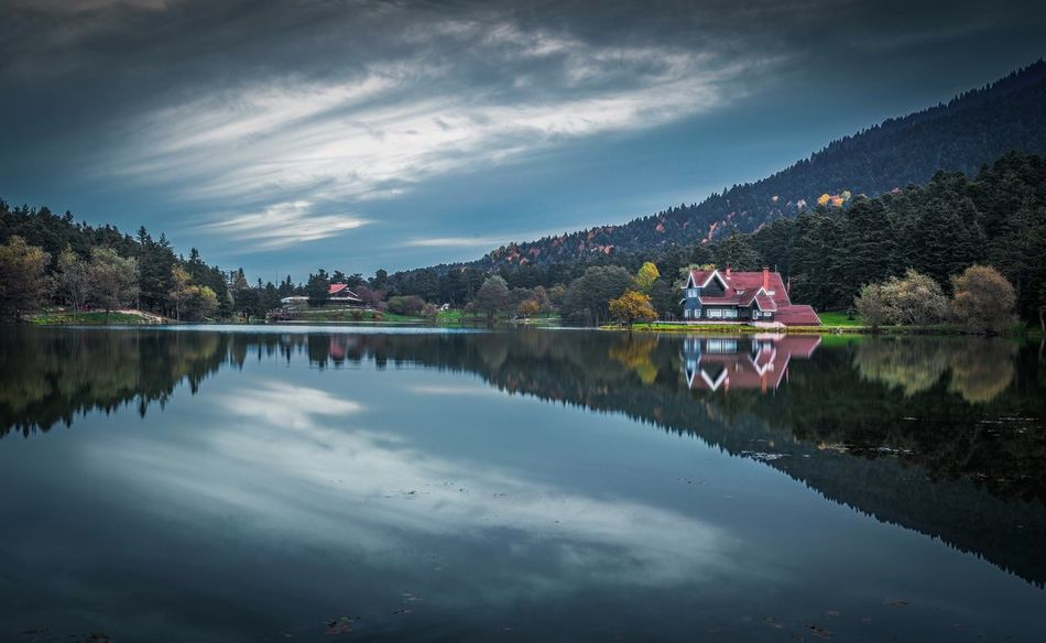 Gölcük Bolu Golcuk Reflection Sky Water Lake Cloud - Sky Tree Scenics Nature Tranquil Scene Beauty In Nature Tranquility Outdoors Day No People Mountain Architecture Landscape