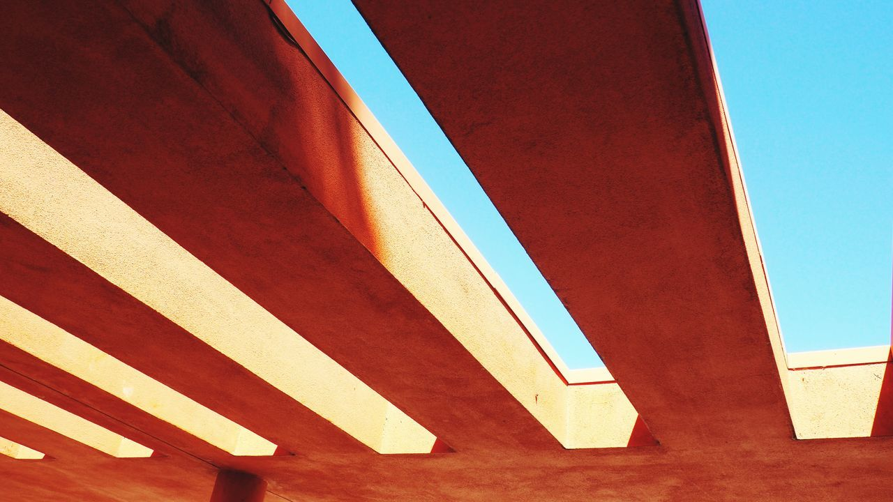 Day Multi Colored Red Low Angle View No People Outdoors Architecture Sky Building Exterior Close-up The Architect - 2017 EyeEm Awards Bridge - Man Made Structure Architecture Futuristic Low Angle View