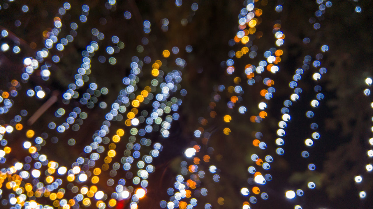 Night Lights 5 Backgrounds Bokeh Bokeh Lights Close-up Defocused Full Frame Futuristic Igniting Illuminated Indoors  Lighting Equipment Night Night Lights Night Lights Bokeh Starry Sky Light & Shadow No People Pattern Sky Spotted