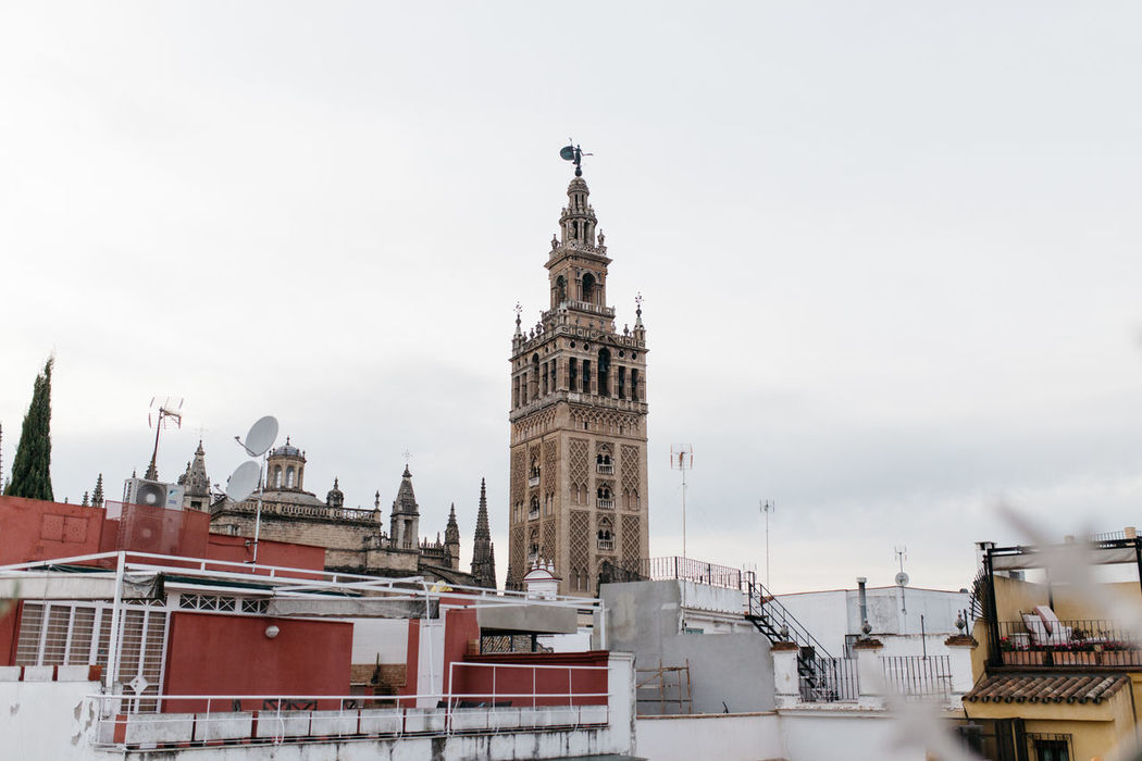 Giralda Andalucía Andalusia Architecture Arquitectura Art City Cityscape Clock Clock Face Clock Tower Cultures Day Giralda Giralda Cathedral History Minute Hand No People Outdoors Sky Tourism Travel Travel Destinations Urban Skyline