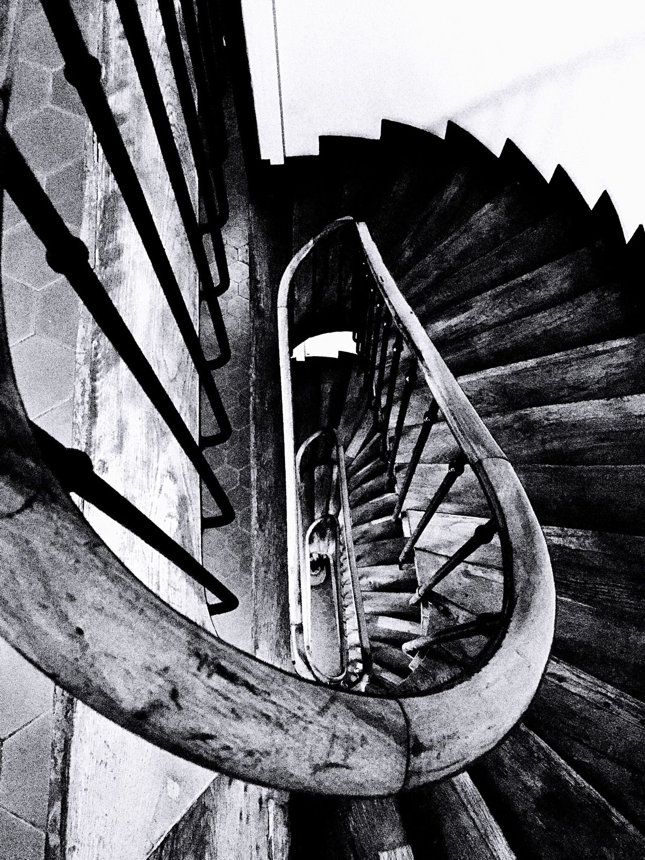 Black & White Stairs Monochrome Architectural Detail