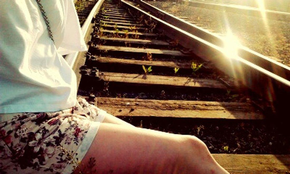 железная дорога Закат :) Sunset жд