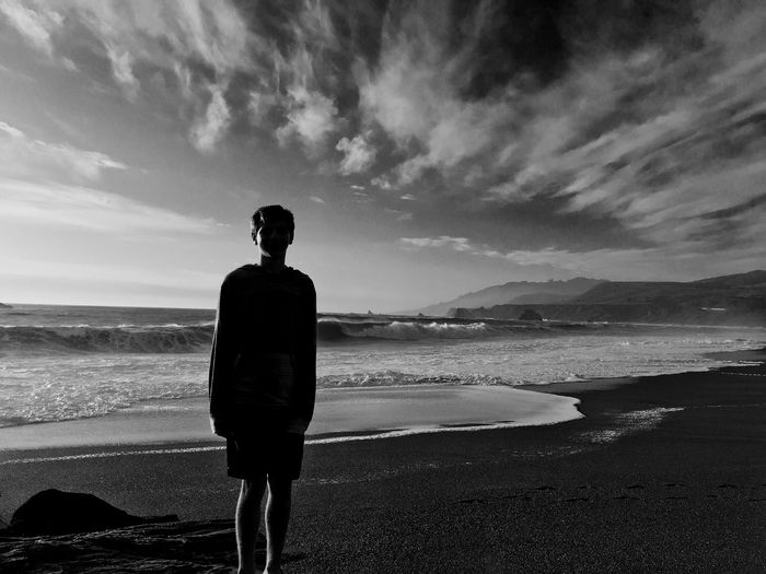 Boy on Beach My Favorite Photo My Son Sillouette Best Day With My Son Boy Growing Up So Quickly Son Noticing Mom Mom Seeing Son As A Young Man Sunlight Is Kissing His Back Sun Setting On His Back