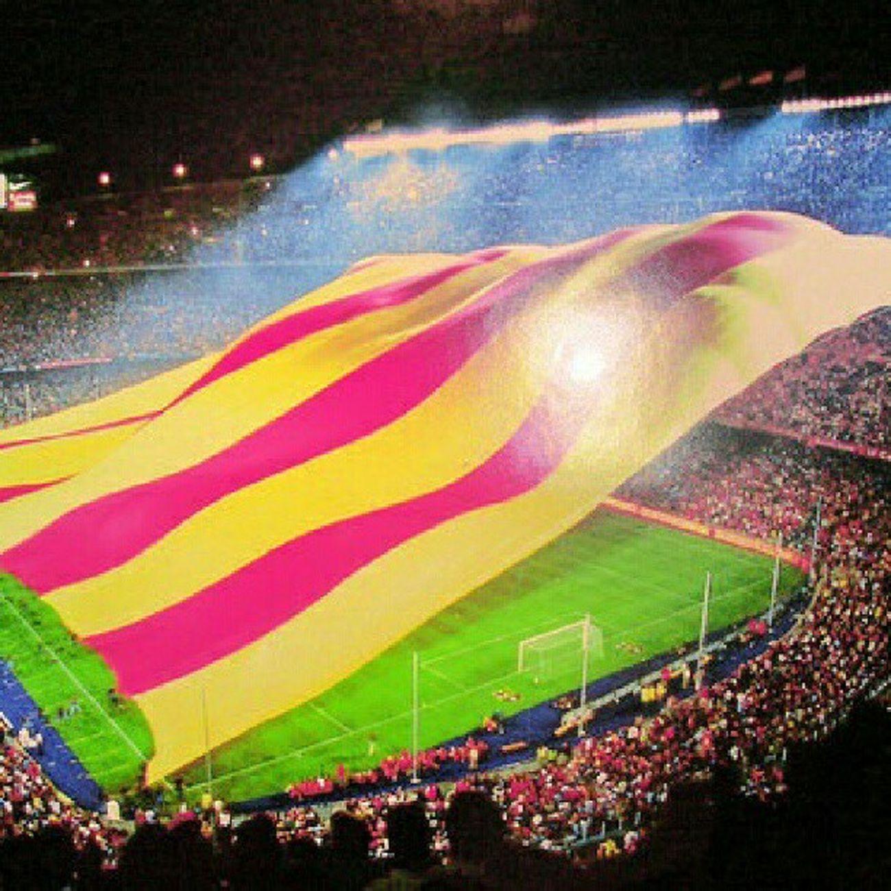 Campnou Noucamp Barcelona Senyera camp partit Catalunya barça