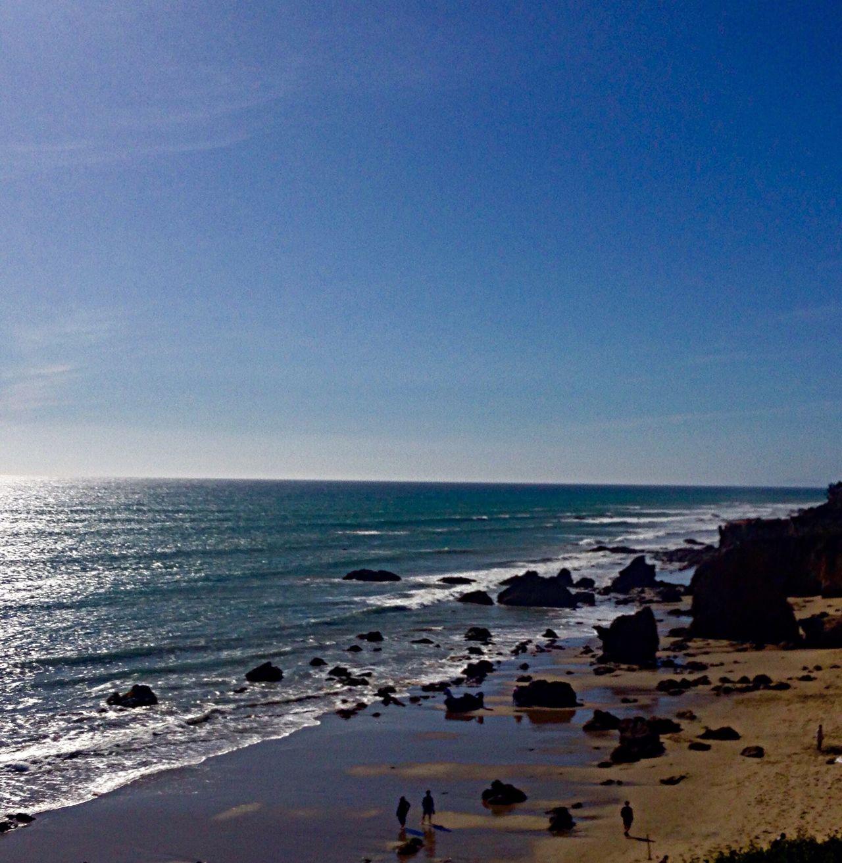 Ocean magic Taking Photos El Matador Beach Sunset Colors Magic Hour & Weather Pastel Colors Ocean People Rocks And Water