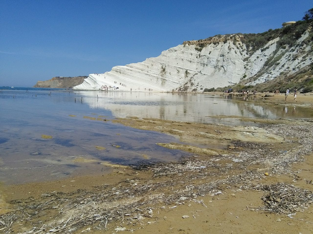 Scala Dei Turchi Realmonte Siciliabedda Beach Sand Nature Outdoors Sea Water No People Scenics Sky Day Blue Beauty In Nature Landscape Clear Sky Low Tide Sand Dune
