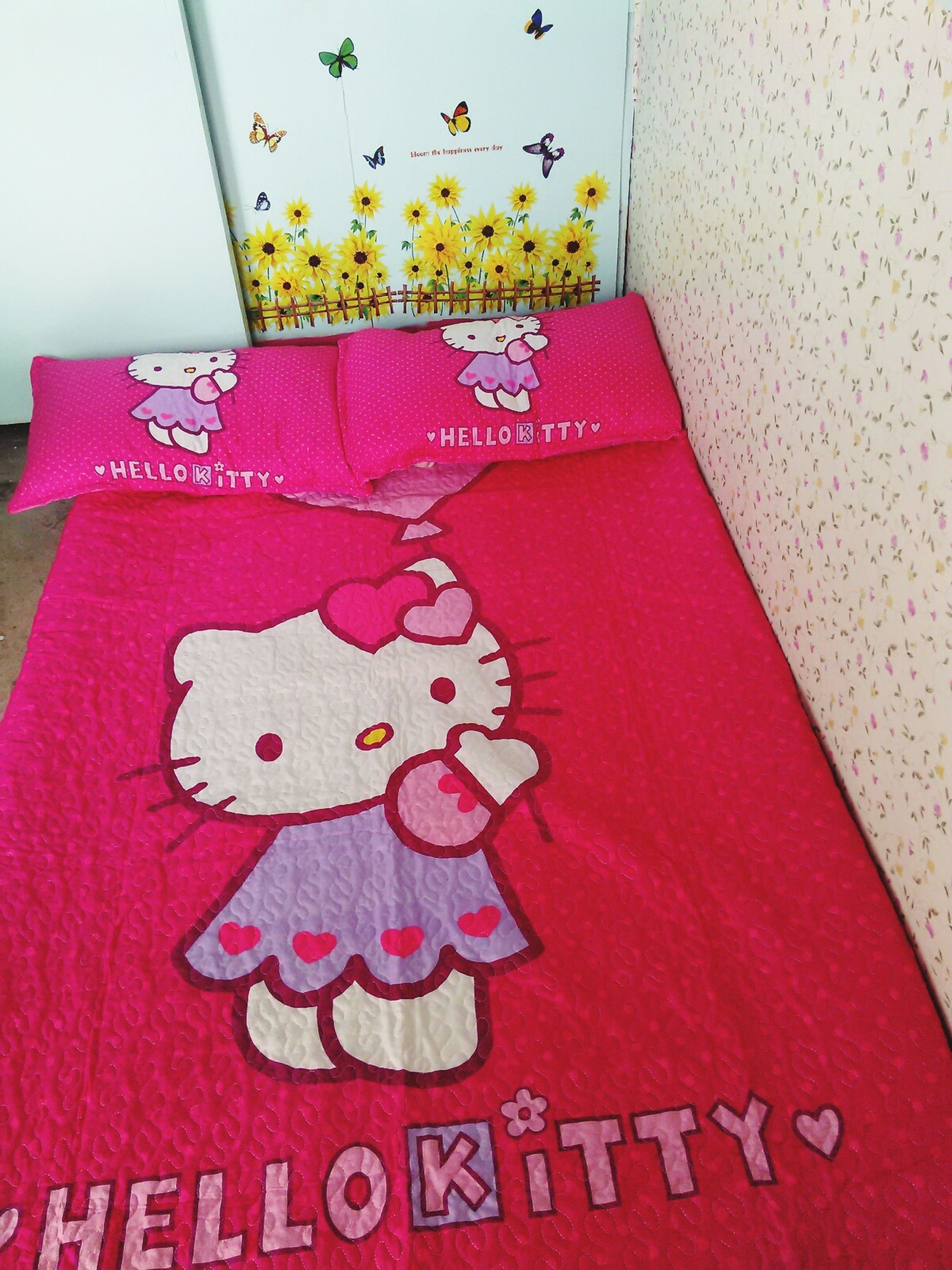 Done CleaningMyRoom  :) Hellokitty Pink Flower Rest & Relax 😜😍