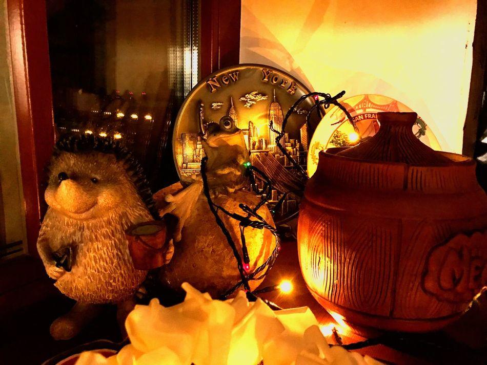 Новогодняя сказка Indoors  Sculpture дом Новый год New Year Winter покавсеспят Night Illuminated зима Christmas Christmas Decoration Christmas Lights январь новый год 2017 New Year 2017
