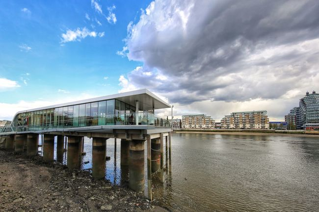 Fulham Chelsea Imperial Wharf Architecture Built Structure Water Bridge - Man Made Structure Building Exterior Sky River Riverbank Thames River