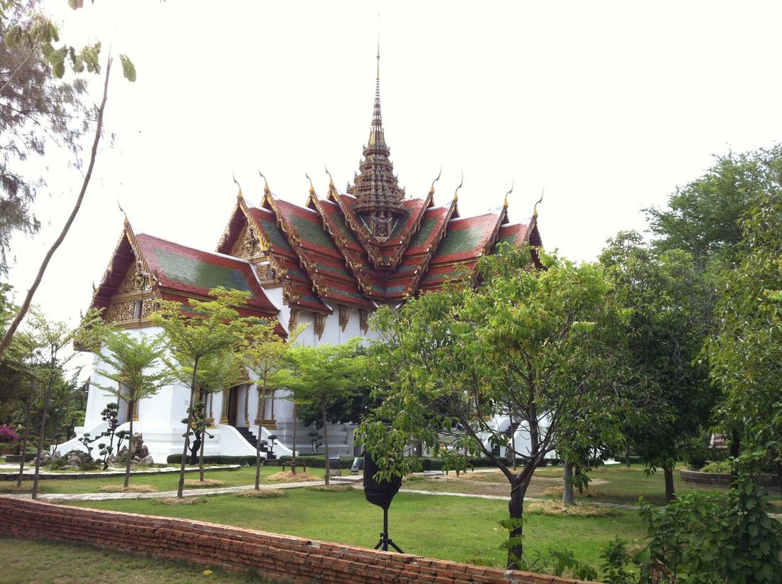 Photos of Bangkok, Thailand 2012 Architecture Building Exterior Built Structure Clear Sky Day Grass No People Outdoors Place Of Worship Religion Sky Spirituality Tree