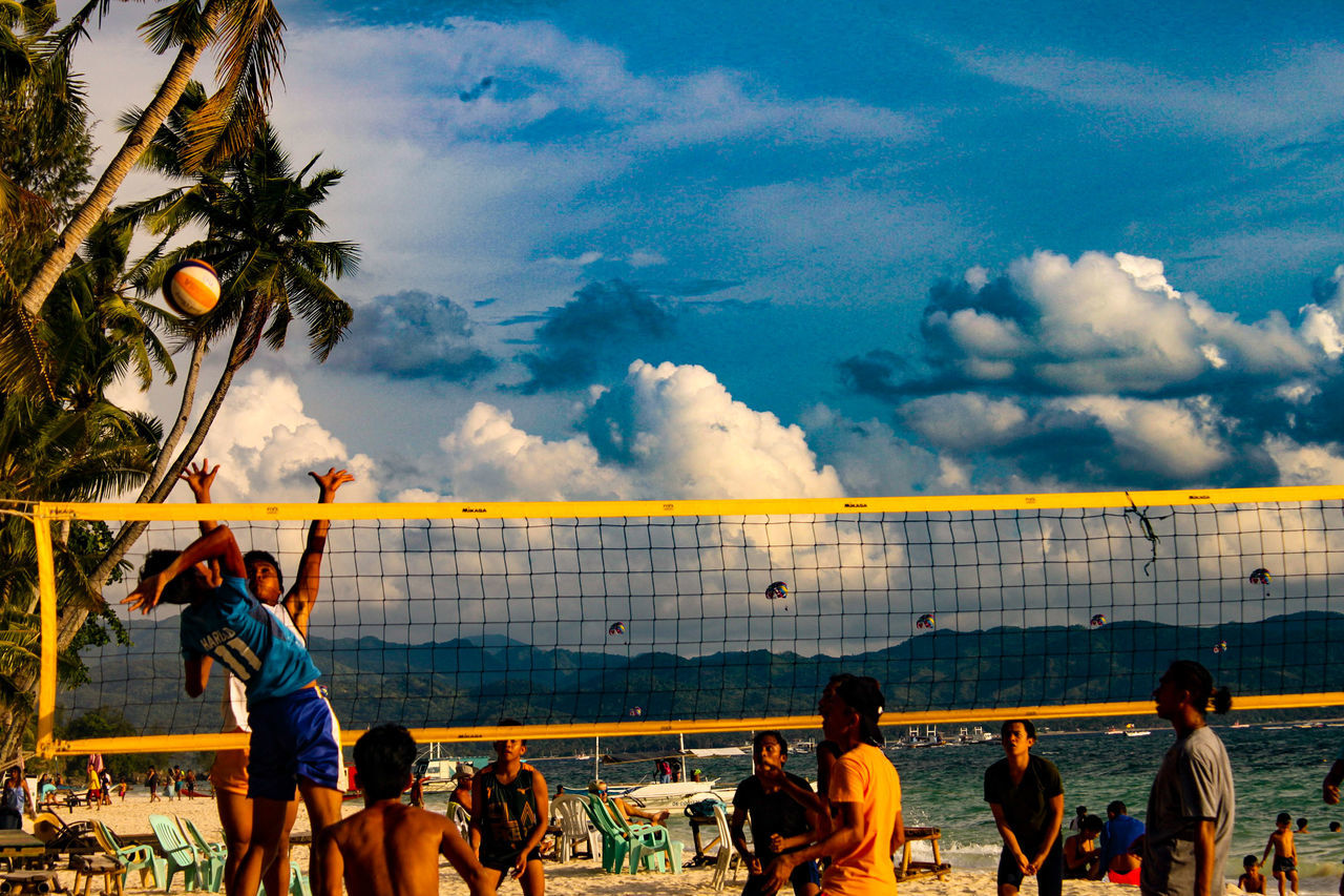 Cloud - Sky Large Group Of People Sky Beach People Sport Men Sea Real People Adult Outdoors Water Competition Adults Only Crowd Day Only Men Sports Photography Eyeem Philippines Travelphotography Canonphotography Eyeemphotography Philippines SummerBeach Volleyball