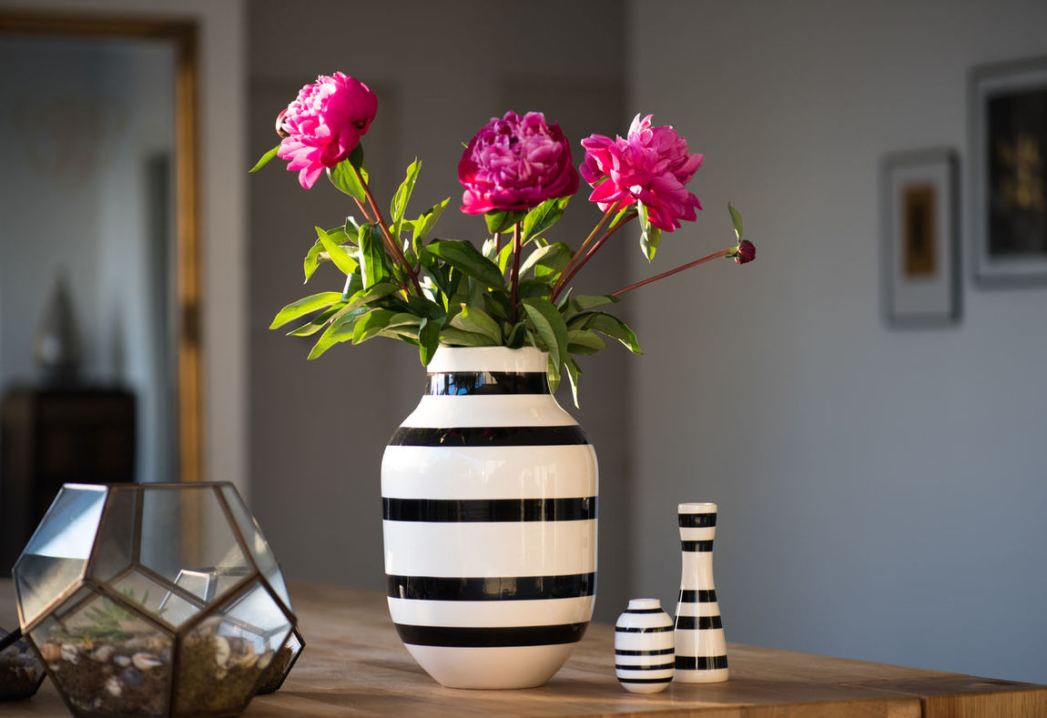 Interior design flower decoration Beauty In Nature Black And White Stripes Blooming Blossom Bunch Of Flowers Day Decoration Decorations Flower Flower Arrangement Flower Pot Focus On Foreground Fragility Freshness Growth Home Decor In Bloom Interior Interior Design Nature No People Petal Pink Color Plant Vase