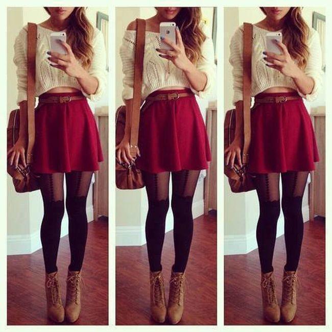 Fashion Beautiful Girl Skirt Taking Photos Pretty Cute Combines Shoes Turkey