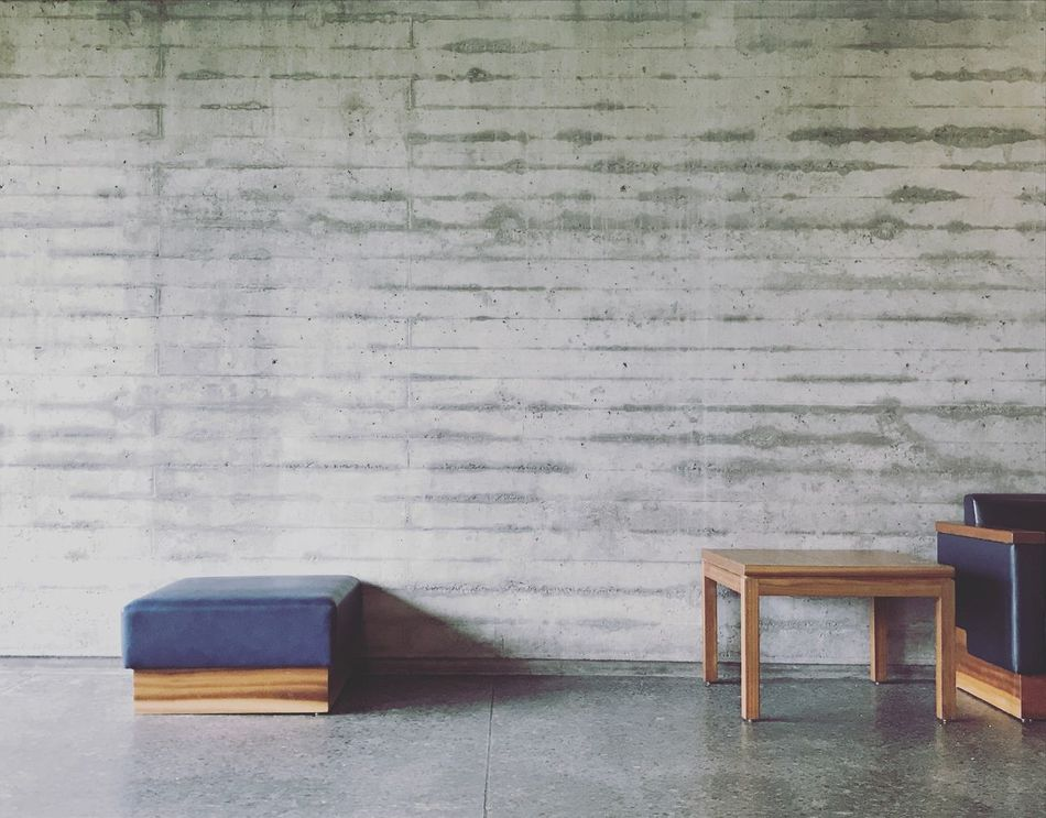 Architecture Design Wall - Building Feature Indoors  No People Chair Table Wood - Material Day Close-up Furniture Concrete Cement Wall Wall