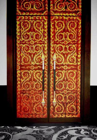 Thai Style Gate Thai Thailand Fine Art