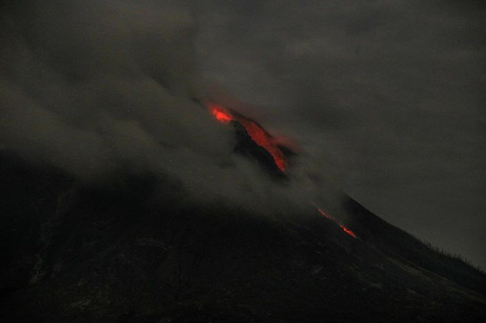 Mount Sinabung spews hot ash in Karo district, North Sumatera, Indonesia. Volcano Lava Erupting Power In Nature Volcanic Landscape Mountain Mount Sinabung North Sumatera Nature