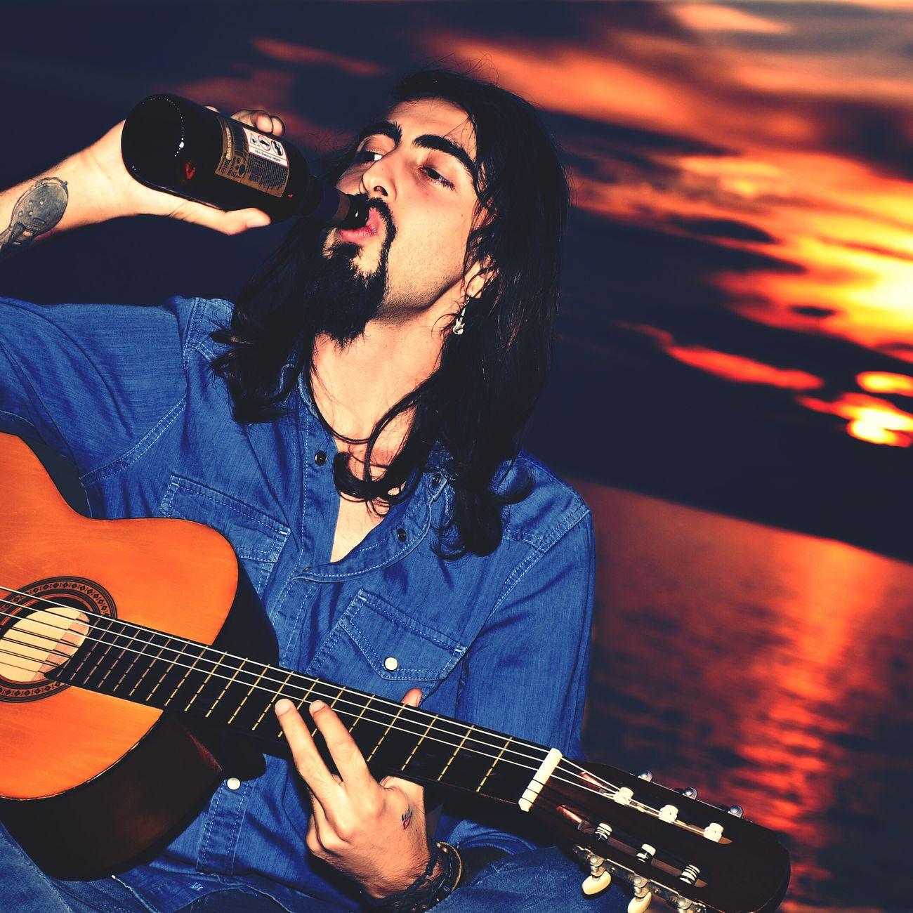 Gitar Beer Sun Küpe