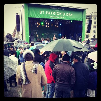 St Patrick's Day at Trafalgar Square by Garry Knight