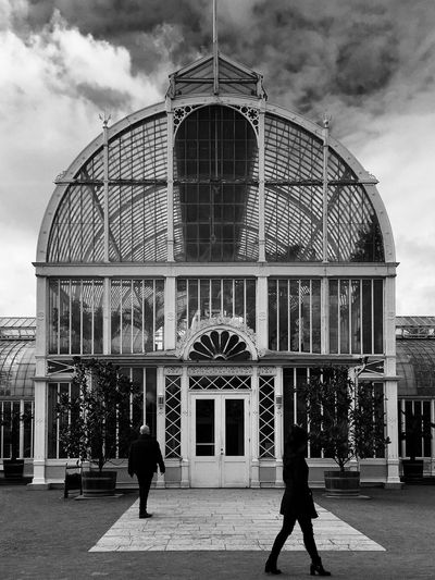 Palmhuset Trädgårdsföreningen Goteborg Sweden Architecture Built Structure Building Exterior Cloud - Sky Travel Destinations Sky Real People Outdoors Day City People Adult Adults Only Streetphotography Blackandwhite Monochrome Bnw