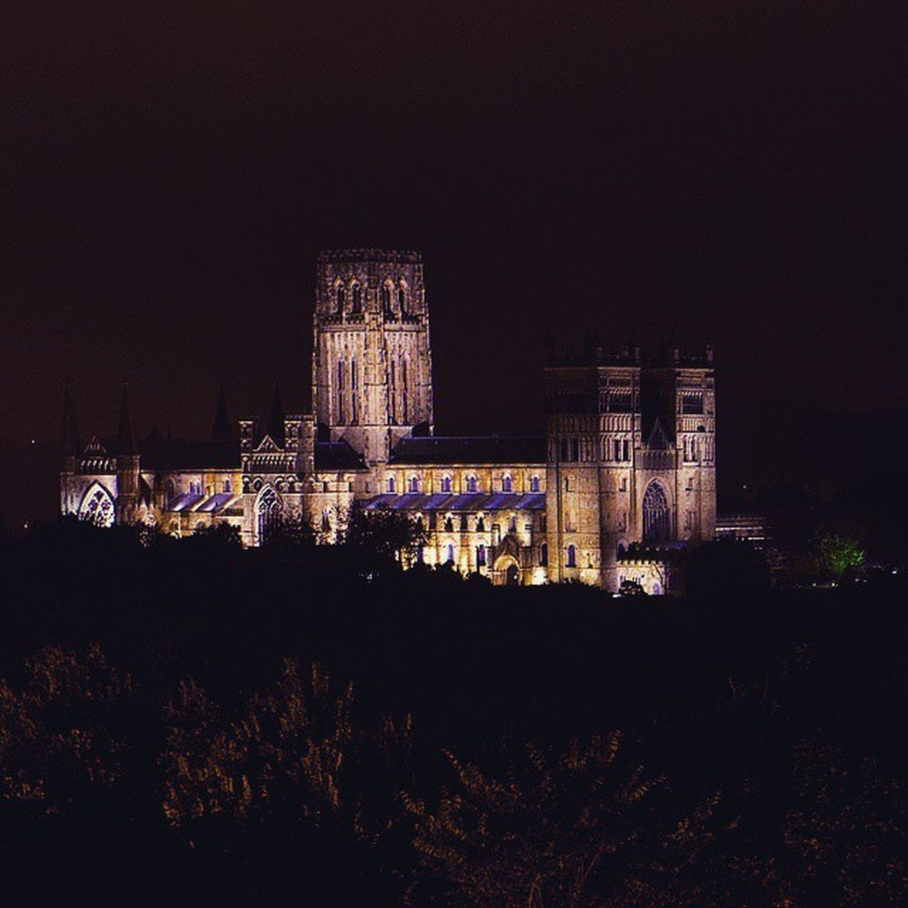 Night shot of DurhamCathedral