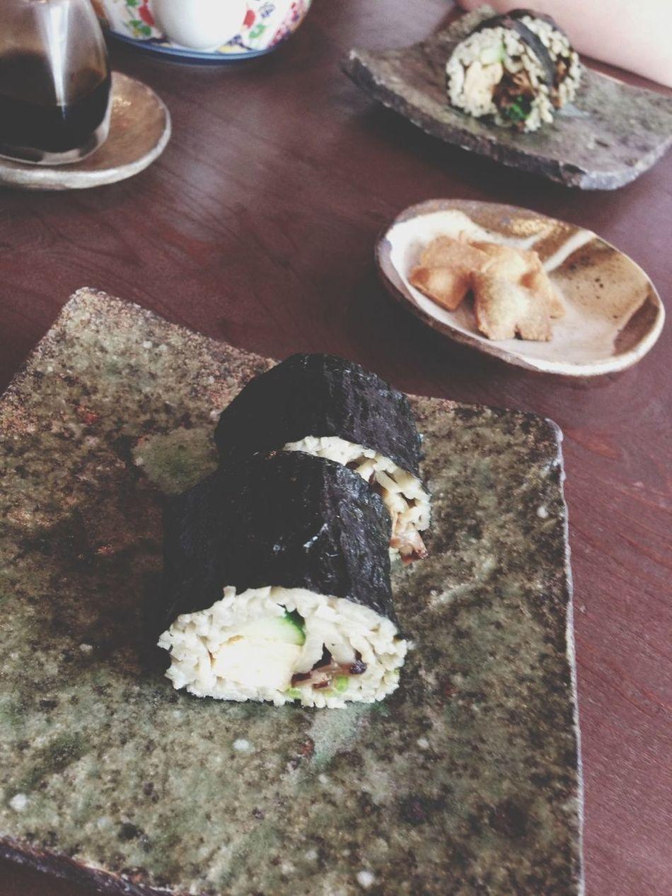 Soba-sushi Lunch Enjoying My Day Off