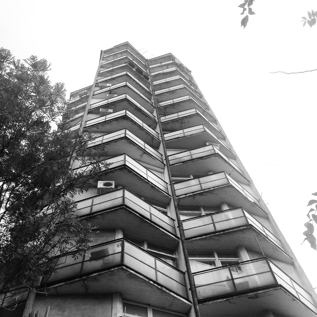 Abstract Architecture Architecture Balcony Belgrade Black & White Black And White Brutalism Building Exterior Built Structure City Clear Sky Concrete Eastern Europe Façade Low Angle View Minimal Modern No People Outdoors Plattenbau Prefabricated Houses Serbia Skyscraper Tristesse