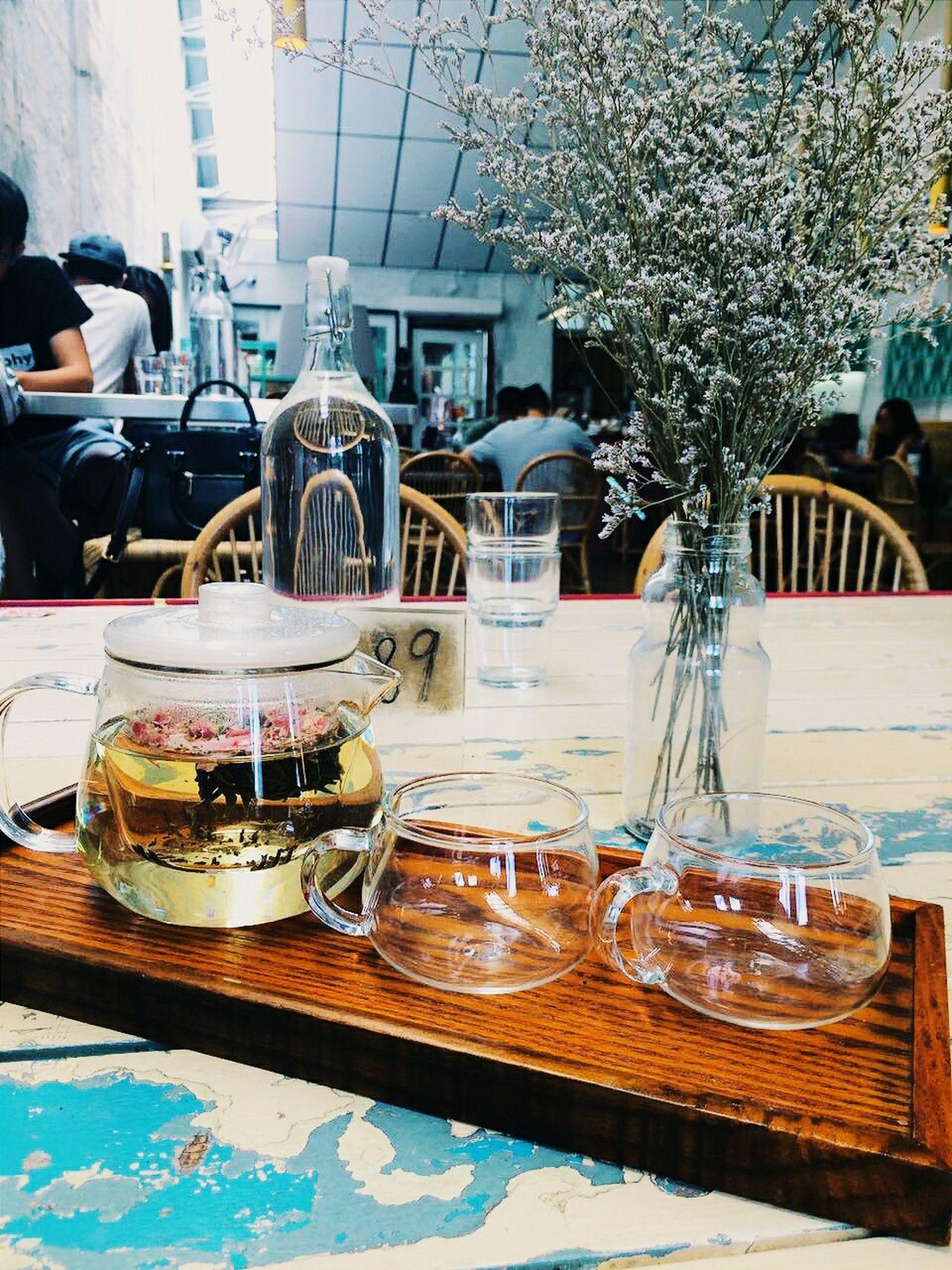 Hand Crafted Tea Rose Tea Tea Set Brunch Merchant's Lane Cafe Hopping Petaling Street Kuala Lumpur Malaysia