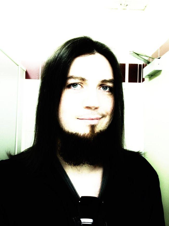 One of my older portraits. That's Me Hello World Selfie Self Portrait Hair Long Hair Beard Mona Lisa Style