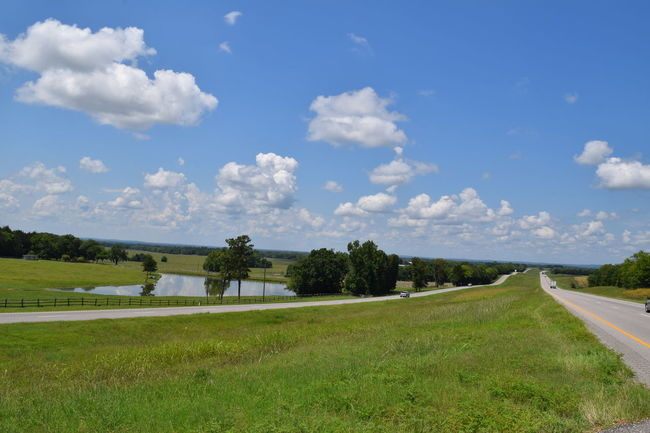 Top of a hill innLowndesboro Alabama...Landscape_Collection Senic Sky Pond Highway Photography Roadside Road Trip