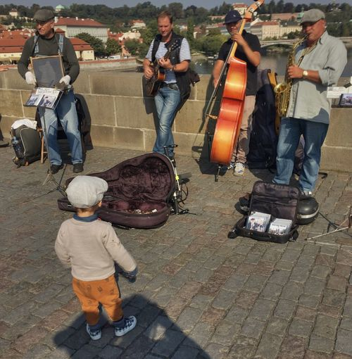 Enjoy The New Normal Outdoors musicians child