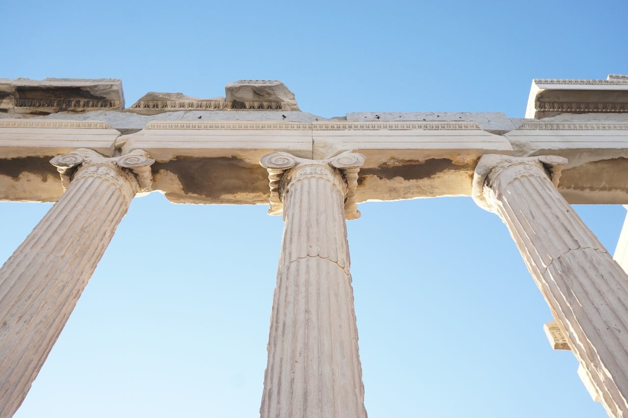 Beautiful stock photos of travel,  Athens,  Built Structure,  Clear Sky,  Cropped