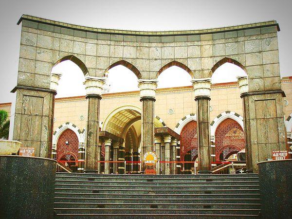 "Masjid Kubah Mas ""Dian Al-Mahri"" (ladies Entrance Gate / east) - The Mosque of Gold-plated Dome   Marble Stone StairsIslamic Design PilesTourist Destination Architecture Cinere Depok INDONESIA Fine Art Photography"