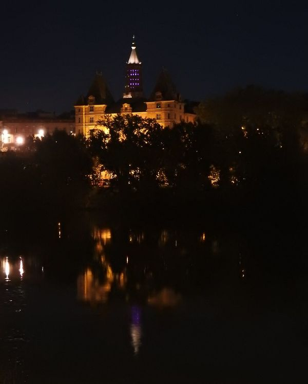 i forgot my tripod Architecture Building Exterior Built Structure Calm Dark Façade France French Museum Illuminated Ingres Montauban Museum Musée Ingres At Montauban, France Night No People No Tripod No Tripod At Night Outdoors Reflection Scenics Tall Tranquil Scene Tranquility Water Waterfront