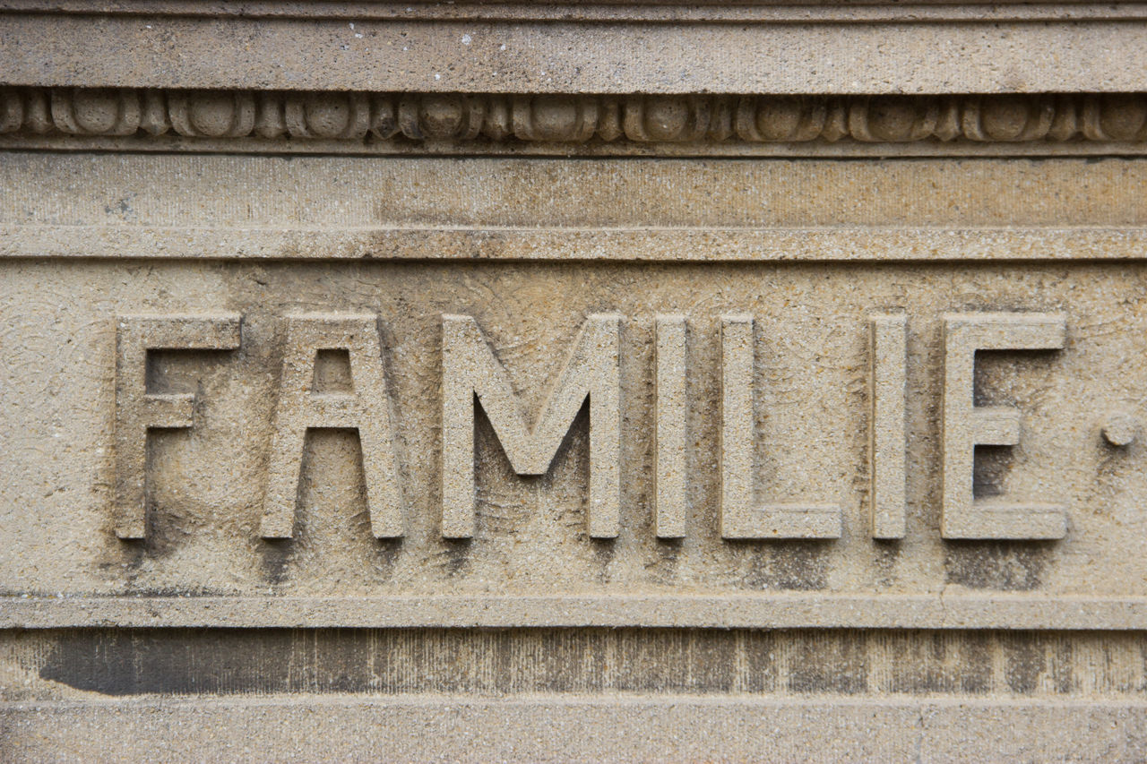 """""""engraved values"""" Architecture Building Exterior Close-up Day Family Family Matters Family❤ Graveyard No People Outdoors Relief Stone Stone - Object Stone Material Stone Wall Word"""