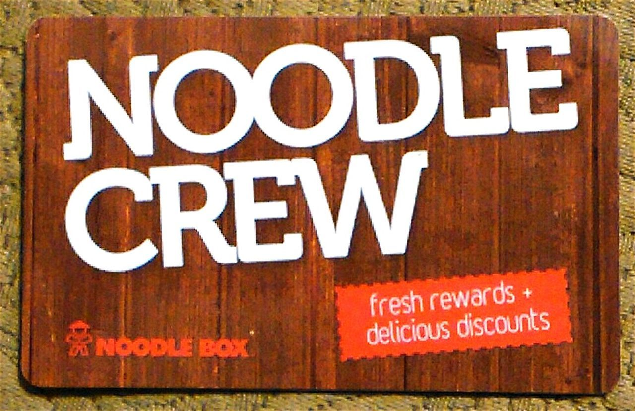 Loyalty Card Loyalty Cards Membership Take Away Noodle Crew Noodle Box Noodle Crew Card Discount Card Loyaltycard Plastic Card Plastic Cards LoyaltyCards Plastic Advertising