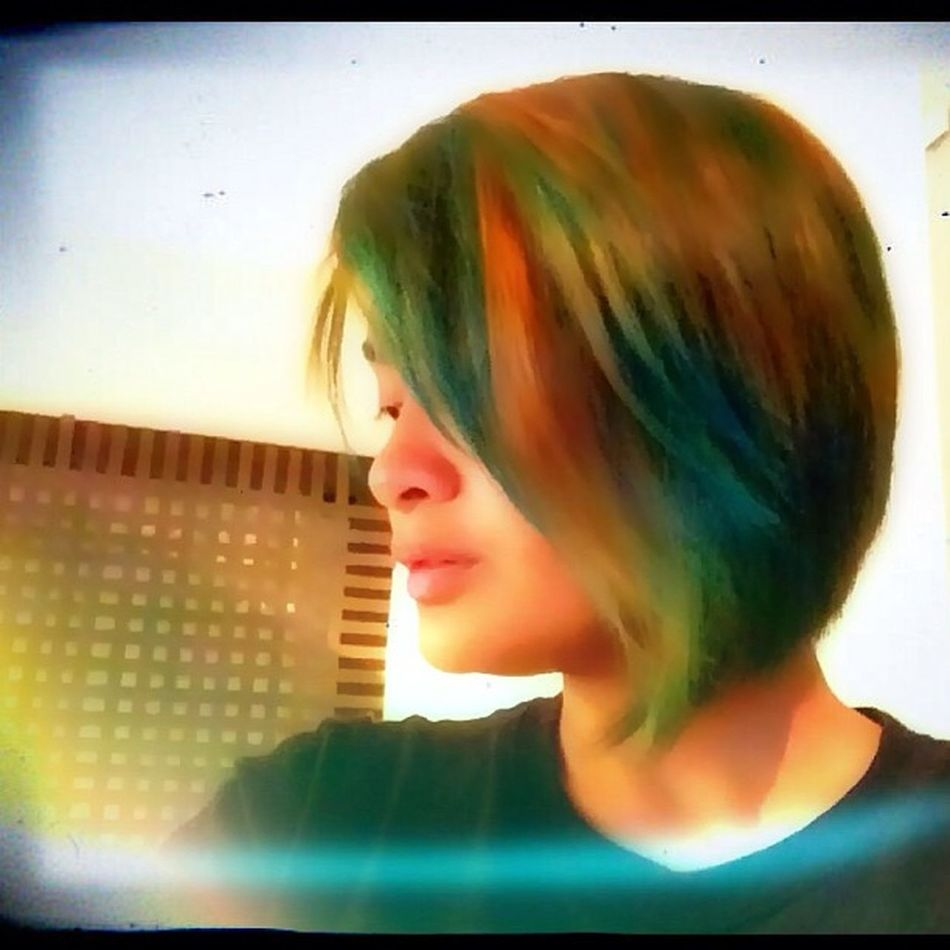 It is hard to accept being different, hard to have people avoid looking at you, and still believe in yourself. ? Haircolor Blue Funky Funkycolor asul bluehair selfiekuno kunwaristolen manipanic