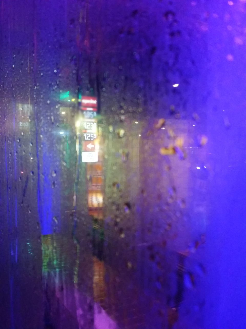 illuminated, window, no people, night, wet, built structure, full frame, indoors, water, blue, architecture, building exterior, close-up