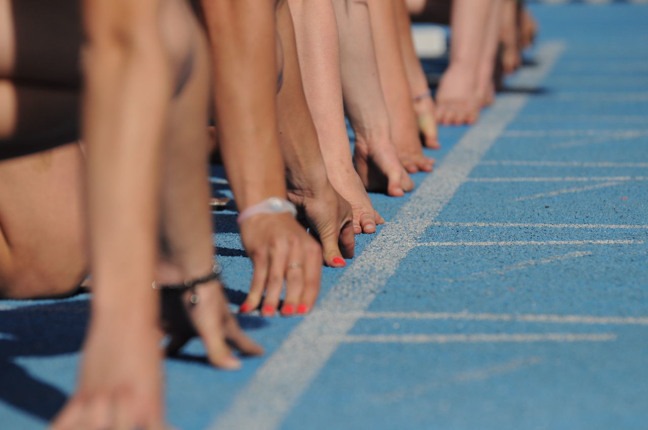 Athletics Human Body Part In A Row Nails Outdoors Sport Fresh On Market 2016