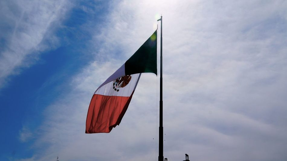 Beautiful stock photos of mexican flag, Cloud - Sky, Day, Flag, Identity