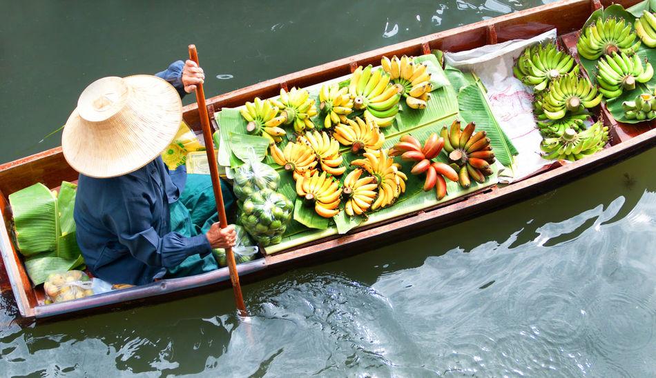 Close-up Day Floating Market Dumnoen Saduak Nature