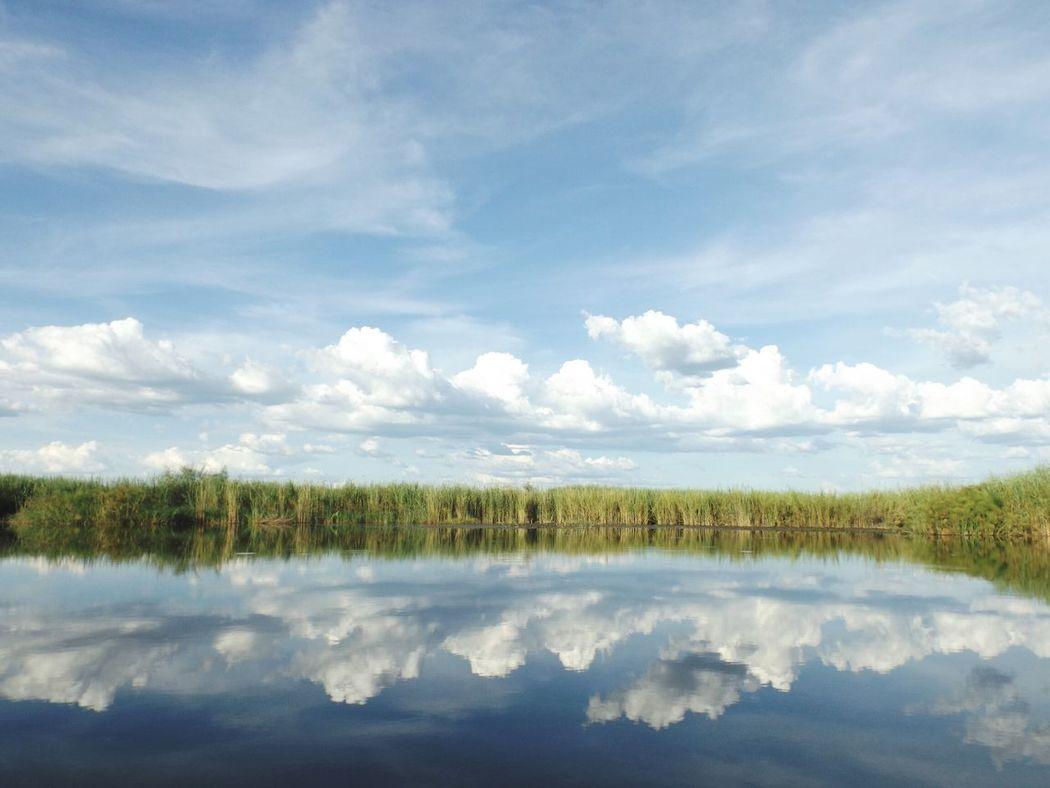 Botswana Botswana Beauty Africa Water Landscape Nature Reflection Outdoors Okavango Delta Okavango River Beauty In Nature Beautifully Organized Travel Adventure Travel Destinations Nature_perfection Scenic Landscapes Natural Parkland Lake Wilderness Sky Wetland No People Scenics Purity The Great Outdoors - 2017 EyeEm Awards