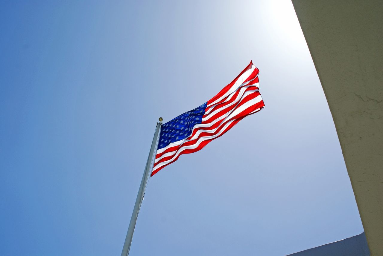 Beautiful stock photos of american flag, American Flag, Architecture, Built Structure, Day