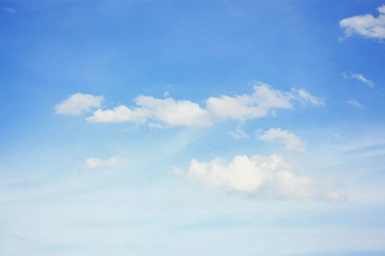 Blue Sky Cloud - Sky Heaven Cloudscape Weather Nature Tranquility Backgrounds Fluffy First Eyeem Photo Softness Cumulus Cloud Scenics Beauty Abstract No People Day Outdoors Beauty In Nature Sky Only