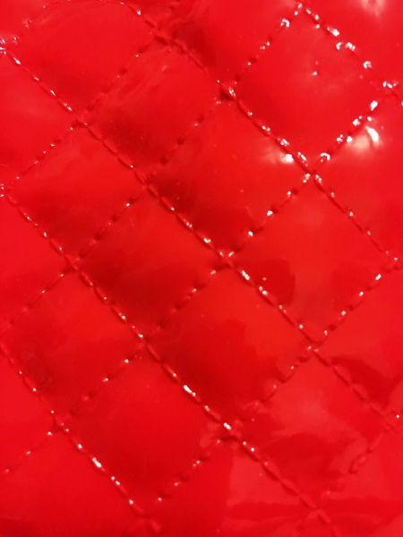 Red vinyl Red Full Frame Backgrounds Close-up No People Freshness Indoors  Day Quilted Material Shiny